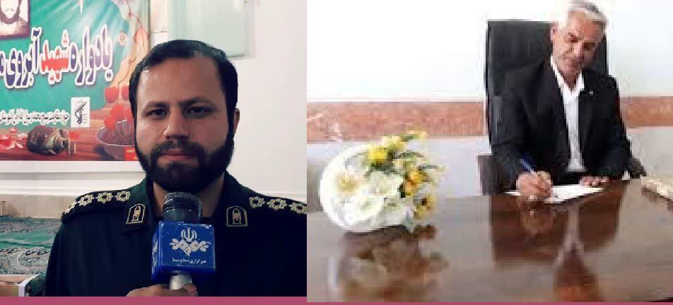 پیام تبریک شهردار بوستان به فرمانده جدید ناحیه مقاومت بسیج شهرستان باشت