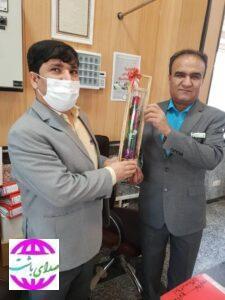 تجلیل و قدردانی از جانباز بانک کشاورزی باشت به مناسبت سوم خرداد