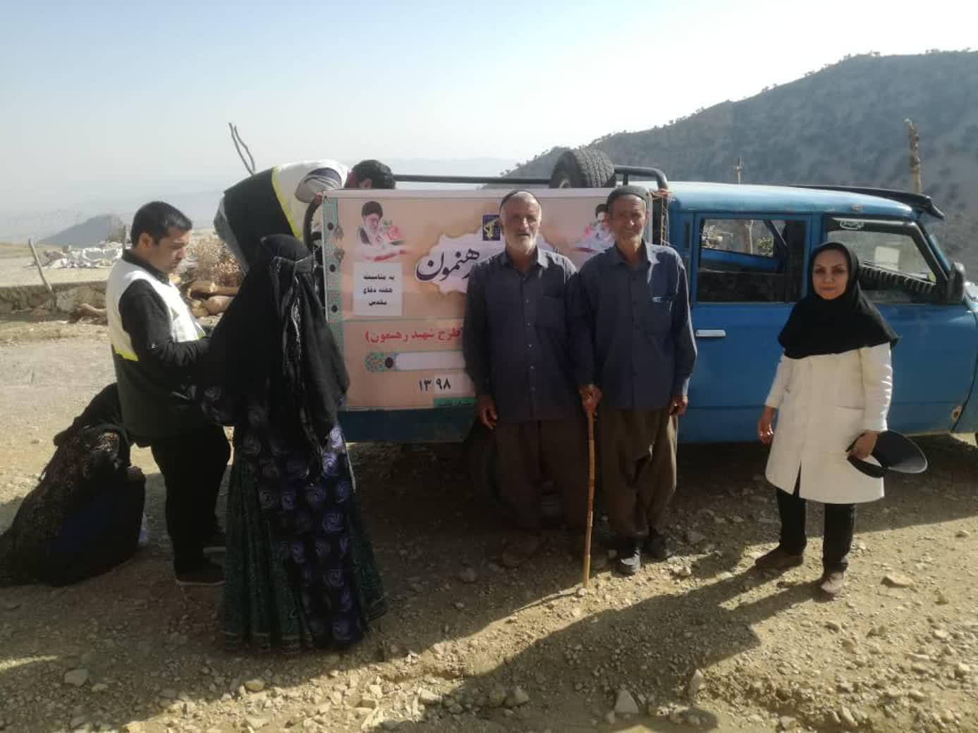 به همت بسیج جامعه باشت تیم های پزشکی به منطقه محروم و صعب العبور باشت اعزام شدند+تصویر