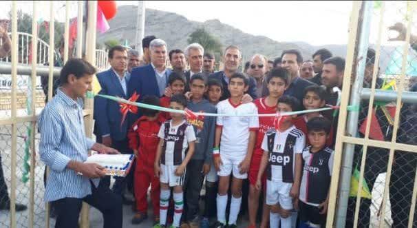 پروژه چمن مصنوعی روستای کته شهرستان باشت به بهره برداری رسید.