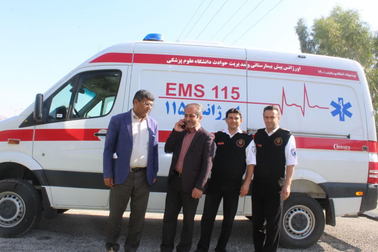 یک دستگاه آمبولانس به ناوگان اورژانس ۱۱۵ باشت افزوده شد.