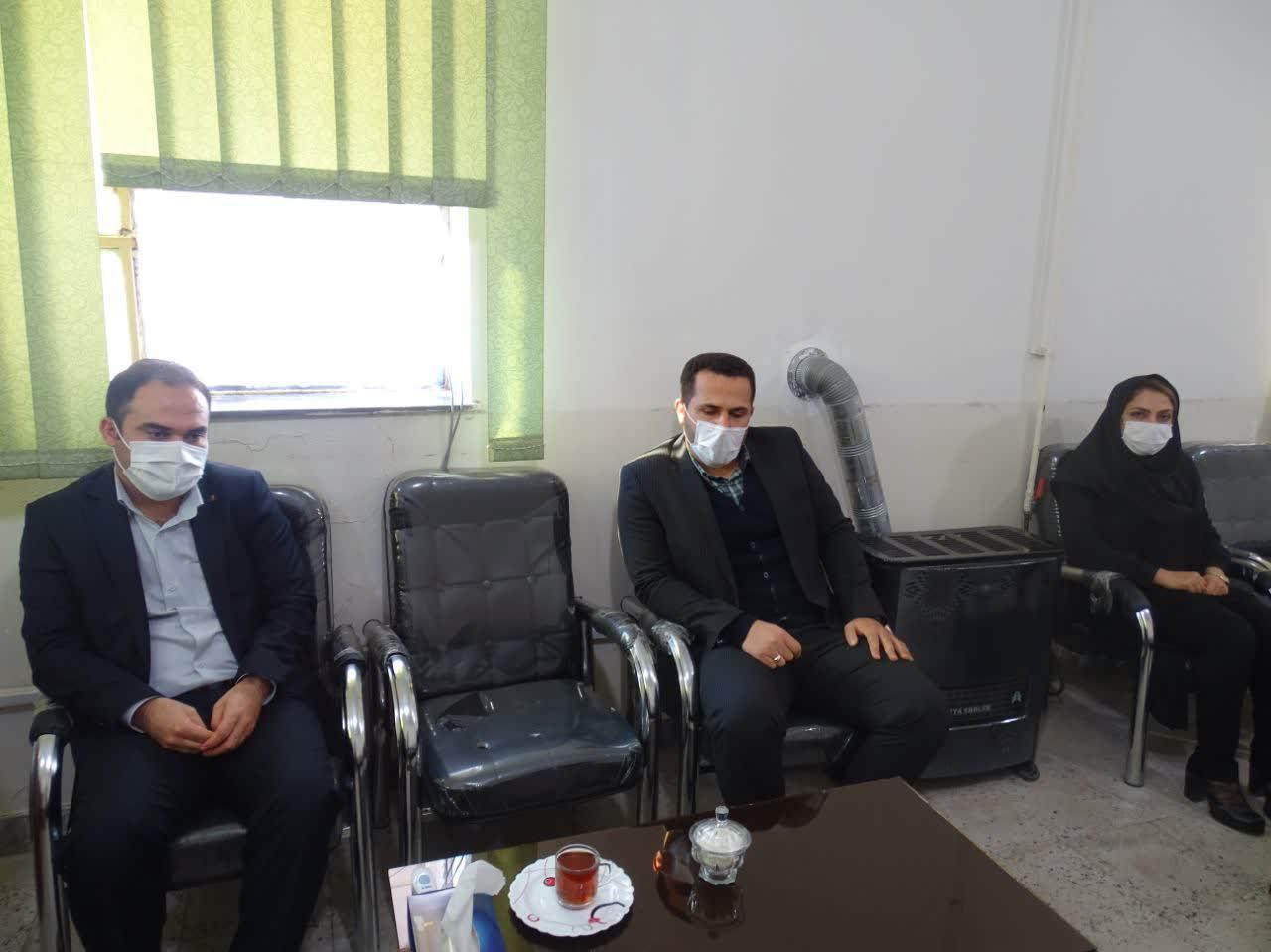 دیدار سرپرست پزشکی قانونی با رئیس دادگستری شهرستان باشت