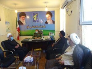 دیدار گروه جهادی فانوس های بی نشان طلاب شهرستان باشت با فرمانده جدید ناحیه مقاومت بسیج این شهرستان